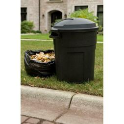 Rubbermaid Roughneck 20 Gal Black Round Trash Can with Lid G