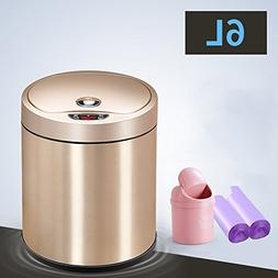 LUOER Trash Can, Automatic Trash Can With Lid Stainless Stee