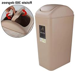 Acrux7 Trash Can with Lid, Small Garbage Can for Bedroom wit