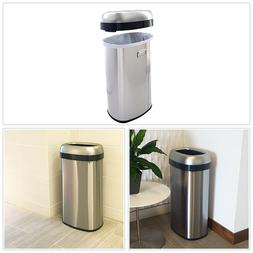 Trash Can and Recycle Bin Stainless Steel 16 Gallon Dual Deo