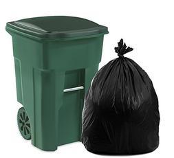QualityPaperGoods 95 Gallon Black Plastic Trash Bags  – Ou