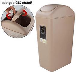 Trash Can Bedroom Small Lid Bathroom Waste Plastic Garbage O