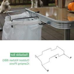 Trash Can Bracket Dustbin Cage Garbage Bag Holder Table Rack