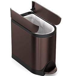 GHY Step Trash Can Bronze Indoor Household Slim Foot Touch B