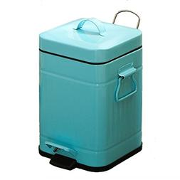 AIDELAI Trash Trash Can With Cover Square Double Handle Mute