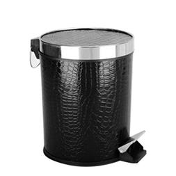 HMANE Trash Can, 12L Leather Covered Round Step Trash Can Fo