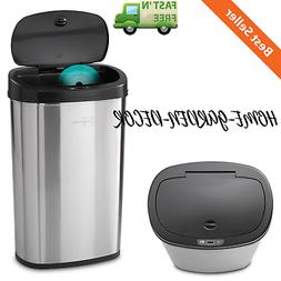 Trash Can Automatic Motion Sensor Stainless Steel Touch Free