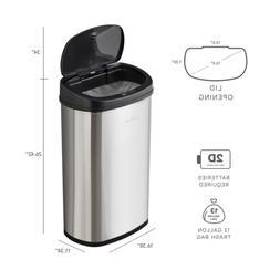 Trash Can Garbage Bin STAINLESS STEEL Motion Sensor 13 Gallo