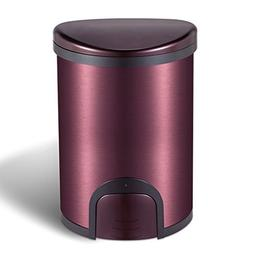 Home Stainless Steel Electric Light Touch Trash Can Living R