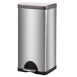 Step Trash Can Kitchen Stainless-Steel Home Bathroom Tight S