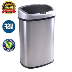 Trash Can Kitchen Waste Pins Tall Auto Stainless Steel Garba