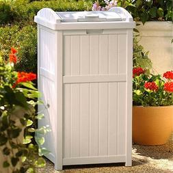 Trash Can Lid Garbage Patio 30 Gallon Waste Bin Outdoor Hide
