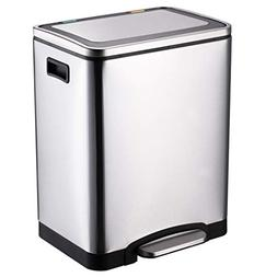SX-ZZJ trash can- Stainless Steel Non-Contact Double Compart