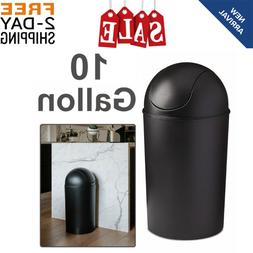 trash can swing top lid waste bin