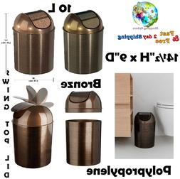Trash Can with Lid Small Mezzo Wastebasket Garbage Bin House
