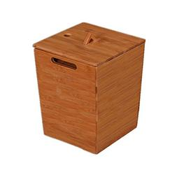 AIDELAI Trash can- Wooden Trash Can Tea Bucket Bamboo Small