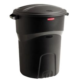 2-Pack Rubbermaid Trash Cans Garbage Bin Outside Waste Conta
