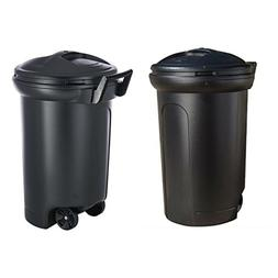 Trash Container Wheels Lock Lid Garbage Dispenser Plastic Wa
