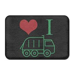 Debigkco Trash Garbage Trucks Anti Slip Home Door Mat Doorma