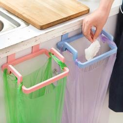 Trash Holder Door Hanging Rack Storage Kitchen Garbage Bag C