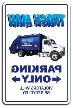 MagRaphael Trash Man Sign Parking Garbage Trashman Waste Man