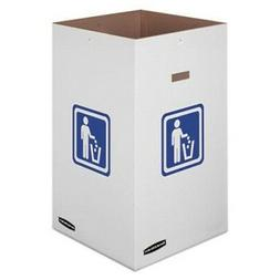 Bankers Box Medium Trash and Recycling Corrugated Bin, 42 Ga