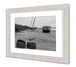 Ashley Framed Prints Trash Truck On Beach, Wall Art Home Dec