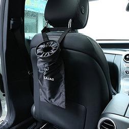 Traveling Portable Car Trash Can , Black Collapsible Trash C