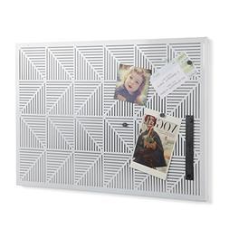 Umbra 470790-660 Trigon Metal Bulletin Board, White