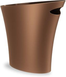 Umbra Skinny Sleek & Stylish Bathroom Trash, Small Garbage C