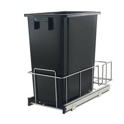 Under Kitchen Cabinet K-2301H Black 32 Qt. Pull Out Waste Ga