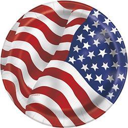 US American Flag Dessert Plates, 8ct