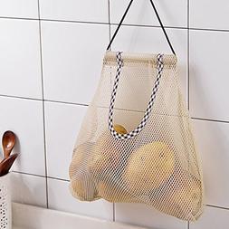 Vegetable Storage Bag, Hanging Mesh Storage Bags, Strong Fru