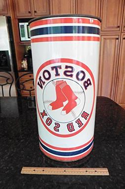 Vintage Boston Red Sox Tin Metal Umbrella Stand holder ? Tra