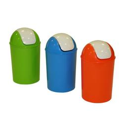 Axentia Waste Bin with Lid - Plastic Trash Bin - Round Plast