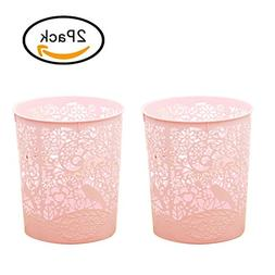 Waste Bins, XSHION 2 Pack Creative Hollowed-out Trash Can Wa
