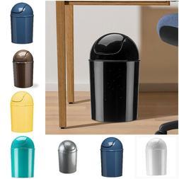 Waste Can Home Bathroom Garbage Basket Various Colors Swing