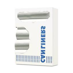 Waste Can Liners, 8-10gal, 24 x 23, .4mil, White, 25 Bags/Ro