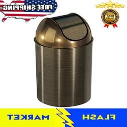 Waste Garbage Basket Trash Can For Bathroom 1 1/2 Gallon wit