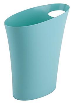 Trash Can Waste basket Blue Office Bedroom Bathroom Bin Home