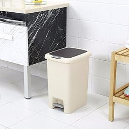 WAWZJ Rubbish Bin Hand Tread Garbage Can Cover Creative Plas