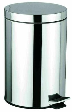 HDS Trading WB00081 Waste Basket 12 Liter Stainless Steel