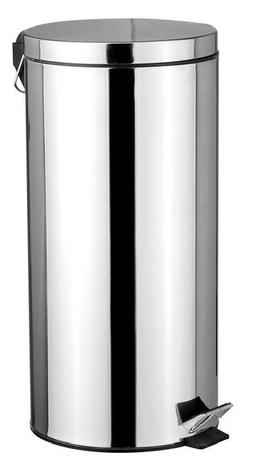 Home Basics WB00083 Waste Basket Stainless Steel 30 Liter&am