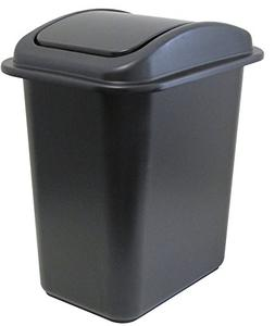 United Solutions WB0234 28-Quart Slim Fit Wastebasket with S