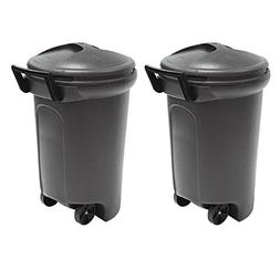 United Solutions 32 Gal. Wheeled Blow Molded Outdoor Trash C