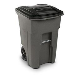 Toter 48 Gal. Wheeled Graystone Trash Can