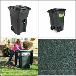 Toter Wheeled Trash Can 64 Gal Polyethylene Granite, Green,