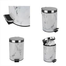 Home Basics White Faux Marble Bathroom Accessory