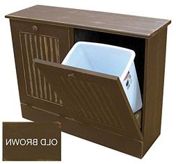 Sawdust City Wood Garbage Can Holder many colors available