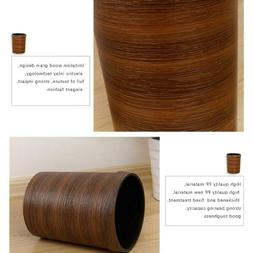 Wood Grain Trash Bin Wastebasket Trash Can Garbage Bin For B